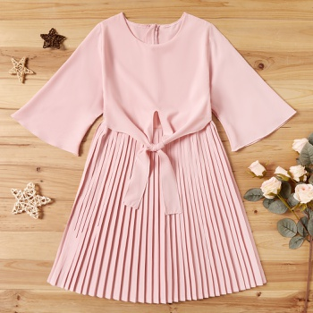 Kid Girl Sweet Pleated Dress