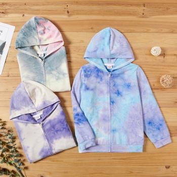 Kid Unisex Tie Dye Zip-up Jacket