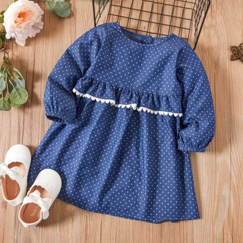 Baby / Toddler Polka Dots Long-sleeve Dress