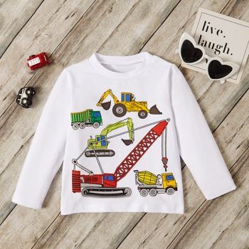 Baby / Toddler Cartoon Car Long-sleeve Tee