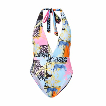 1pcs Animal full print Multi-color One-piece Swimsuit