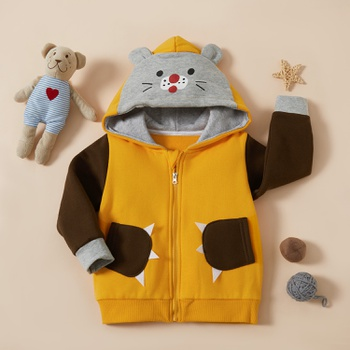 Baby / Toddler Tiger Splice Hooded Zipper Coat