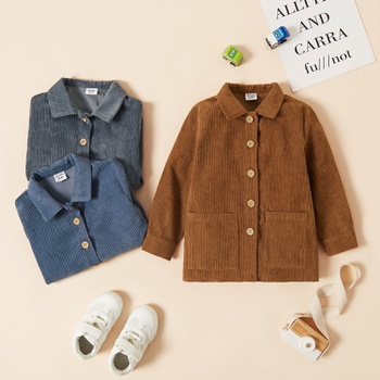 Toddler Boy Retro Corduroy Coats & Jacket