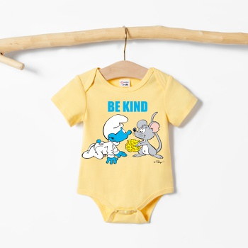 Smurfs Baby Boy/Girl Cute Mouse Print 100% Cotton Bodysuit
