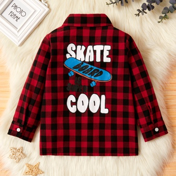 Toddler Boy Plaid Casual Chic Shirt