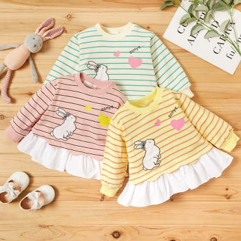 Baby Girl Sweet Rabbit Pullovers