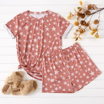 casual Stars Short Sleeve Pajamas