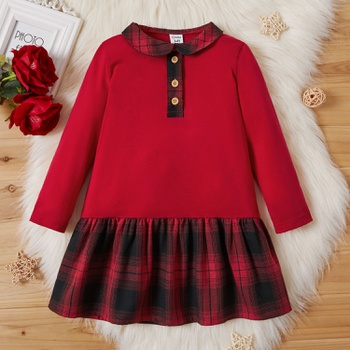 Toddler Girl Plaid Dress