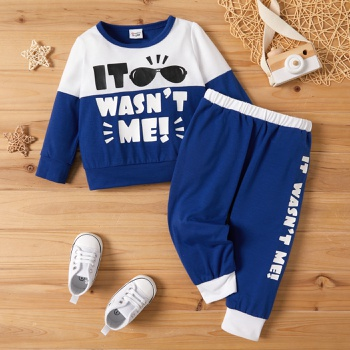 Baby Boy Casual Letter Print Set
