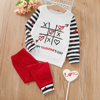 2-piece Baby / Toddler Heart Top and Pants Set of Valentine's day