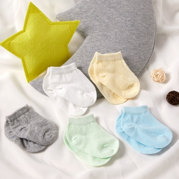 5-pack Baby Solid Breathable Socks