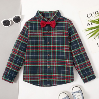 Baby / Toddler Boy Gingham Bow tie Shirt