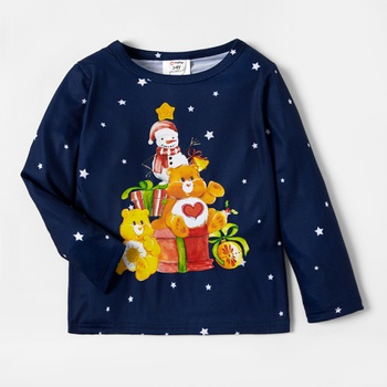 Care Bears Stars Snowman Christmas Tee