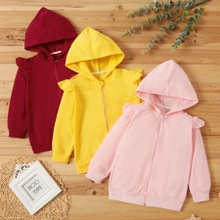 Toddler Girl Casual Solid Coats & Jacket