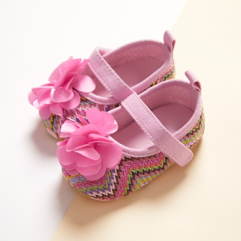 Baby / Toddler Flower Velcro Closure Prewalker Shoes