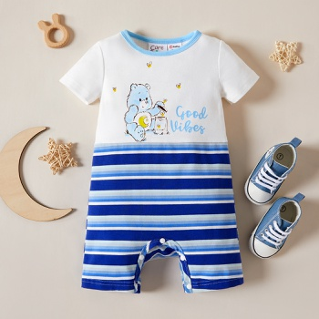 Care Bears Baby Boy Firefly and Stripe Cotton Romper