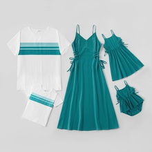 Mosaic Family Matching Turquoise 100% Cotton Sets (Tank Dresses - Rompers - Tops)