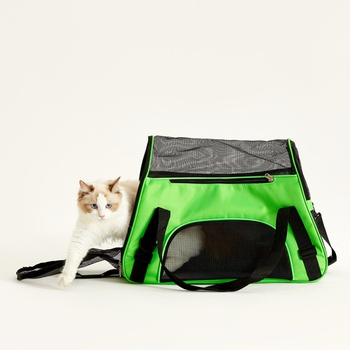 Pet Bag Wear-Resistant Pet Out Backpack Portable Crossbody Bag Portable Breathable Plastic Net Bag