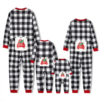 Family Matching Plaid Christmas Onesies Pajamas(Flame resistant)