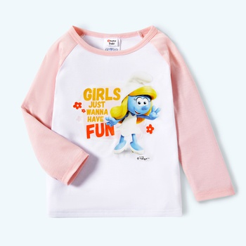 Smurfs Toddler Girl Have Fun Color Block Tee