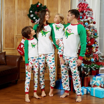 Mosaic Family Matching Colorful Dinosaur Christmas Pajamas Set(Flame Resistant)