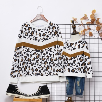 Leopard Print Sweatshirts for Mom and Me