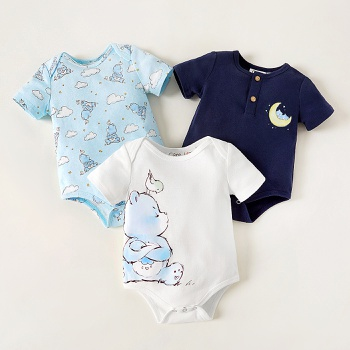 Care Bears Baby 100% Cotton Bed Time Casual Romper/One Piece