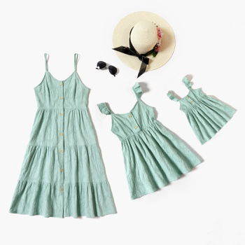 Mommy and Me Solid Tank Dresses