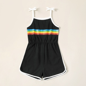 Kids Girl Rainbow Slip Jumpsuit Romper