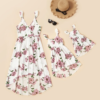 Floral Print Tank Dresses for Mommy and Me