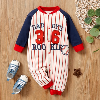 Baby Sports Striped Jumpsuit