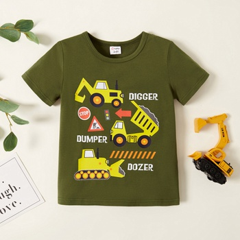Toddler Boy Car Print Casual T-shirt