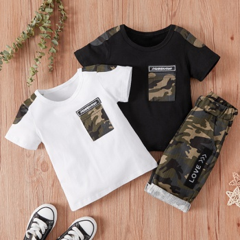 2-piece Baby / Toddler Boy Camouflage Tee and Shorts Set