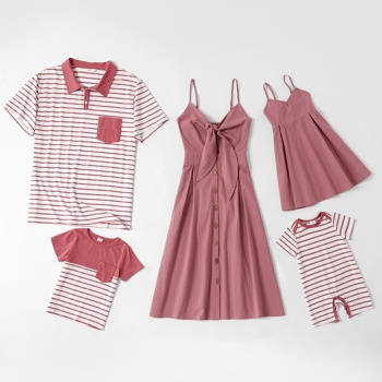 100% Cotton Solid and Stripe Family Matching Sets
