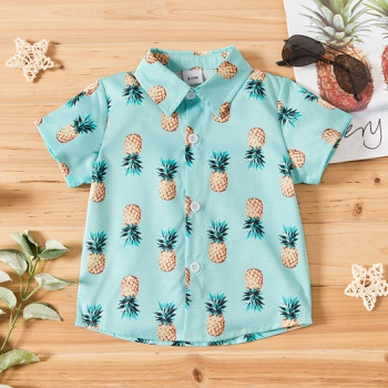 1pc Baby Boy Pineapple Fruit Print Short-sleeve Summer Baby Clothes