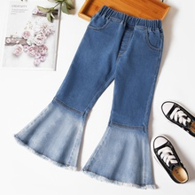 Toddler Girl Retro Heart-shaped Flare Jeans