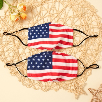 American Flag Printed 3-Layer Protective Anti Dust Breathable Family Mask (Include Two Replaceable Filters)