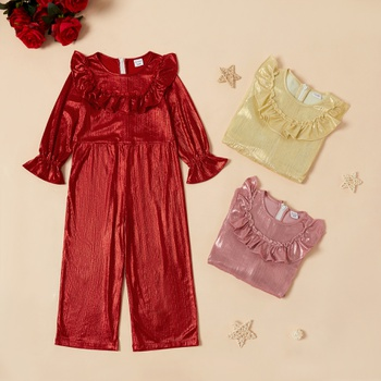 Toddler Girl Wide Trousers Jumpsuit