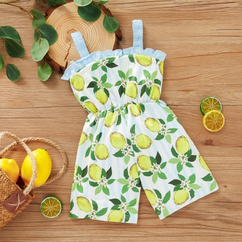 1pc sling Baby Girl Floral straight Jumpsuits