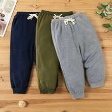 Toddler Unisex Solid Casual Pants