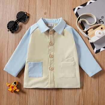 1pc Baby Boy Long-sleeve Cotton casual Coat & Jacket