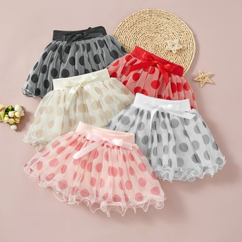 Baby Girl Polka dot Sweet Skirts Tutu dress Cotton Baby Outfits