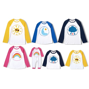 Care Bears Cotton Rainbow Cloud Family Tops/One Piece