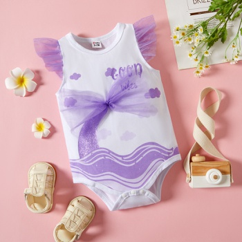 1pc Baby  Girl Sweet Sea Rompers & Bodysuits
