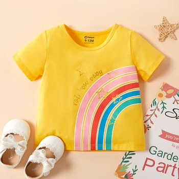 Baby Girl Rainbow Short-sleeve Tee