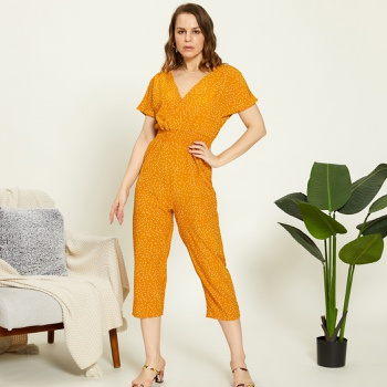 Pretty Polka Dot Print Jumpsuit