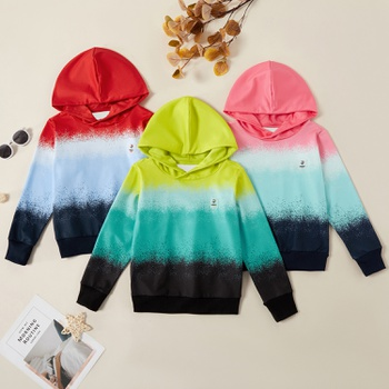 Fashionable Gradient Color Hooded Sweatshirt