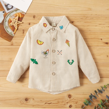 Baby Boy casual Shirt & Smock Embroidery Fashion Long Sleeve Infant Clothing Outfits