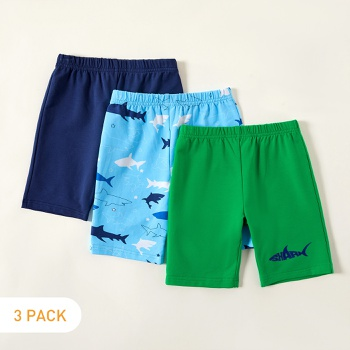 3-piece Toddler Solid Shark Allover Print  Shorts