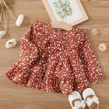 Baby Girl casual Floral Shirt Long-sleeve Fashionable Smock